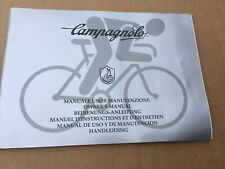 campagnolo chorus record owners installation service book exa 8 speed nos