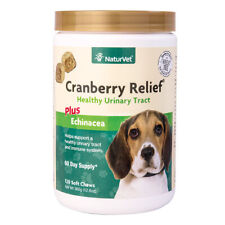 NaturVet Cranberry Relief 120 Count Soft Chew (Jar) with Echinacea for Dogs