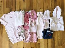Baby Girls Clothing Lot Of 13 Pieces Size 0-3 Month Fall/Winter Sleepers Outfits