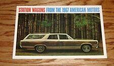 Original 1967 AMC American Motors Station Wagon Sales Brochure 67
