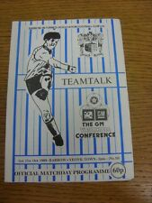 21/10/1989 Barrow In Furness v Yeovil Town  . Footy Progs (aka bobfrankandelvis)