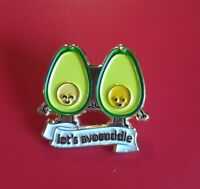 Avocado Pin Lets Avocuddle Pin Enamel Retro Metal Brooch Badge Cute Pins