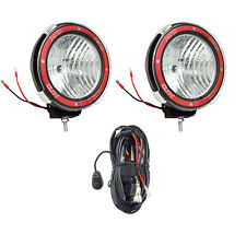 Pair 7 inches 4x4 Off Road 6000K 55W Xenon HID Fog Lamp Light Flood 2pcs +RELAY