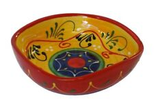 Square Side Salad / Tapas Bowl Dish 16 x 4.5 cm Spanish Handmade Ceramic Pottery
