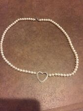 925 Sterling Silver Round Cultured Pearl Beaded Strand String Necklace 17""