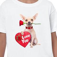 LOVE YOU T-Shirt Chihuahua Dog Lovers Gift Kids Men Ladies Animal Cute Funny Pet