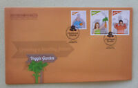2014 NEW ZEALAND HEALTH VEGGIE GARDEN SET OF 3  STAMPS FDC FIRST DAY COVER