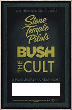 STONE TEMPLE PILOTS | BUSH | THE CULT Revolution 3 Tour 2018 Ltd Ed RARE Poster!