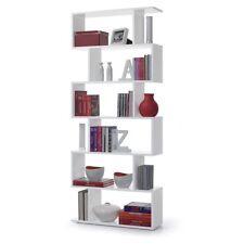 Estantería alta moderna color blanco para comedor, salón o despacho