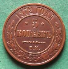 Russland 5 Kopeken 1872 EM Kupfer hübsch besser sehr schön nswleipzig