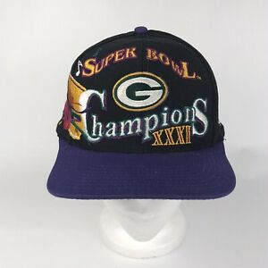 Vintage Green Bay Packers Super Bowl XXXI Champions Hat Logo Athletic Snapback