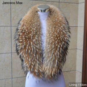 Women Real Fur Collar Winter Warm Scarf Jacket Coat 75cm/80/90/100/110 cm 37233