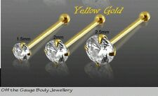 Nose Yellow Gold Plated Unbranded Ring Body Piercing Jewellery