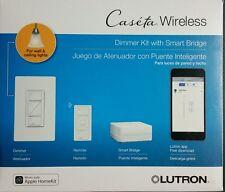Lutron   Caseta Wireless Dimmer Kit with Smart Bridge - White
