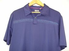 Ashworth Mens Short Sleeve Blue Polo Golf Shirt L