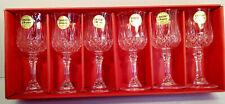 6 Longchamp 6cl 24 Lead Crystal Stemglasses Cristal D'arques