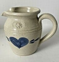 Vintage Pinewood Valley Stoneware Pitch Salt Finish Blue Heart Hand Painted