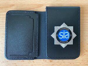 SIA Security Door Staff ID/Card Leather Holder Wallet warrant