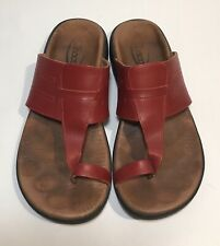Chaco Red Leather Toe Sandals (Womens Size 9)