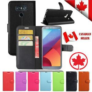 For LG G6 Premium Magnetic Wallet Leather Shockproof Cardholder Flip Case Cover