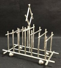 More details for silver plated  aesthetic movement/art and crafts dresser style toast rack. c1880