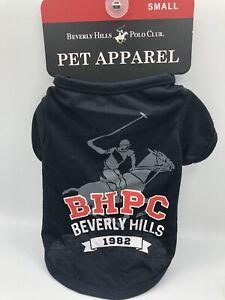 beverly hills polo club Small Dog Puppy T-shirt 1982 Black
