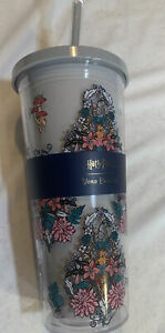New 24 Ounce Vera Bradley Harry Potter Herbology Tumbler Cup Straw