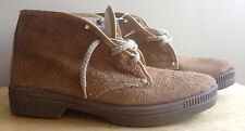1970s CHUKKA DESERT BOOTS, NUBUCK SUEDE LEATHER, US SIZE 9, VINTAGE NEW NOS NWT