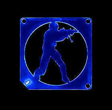 Mutant Mods Acrylic Blue LED 80mm Fan Guard Counterstrike!    **USA SELLER**