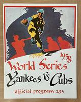 1938 WORLD SERIES BASEBALL PROGRAM CHICAGO CUBS v NEW YORK GIANTS -OPIE 000/1000