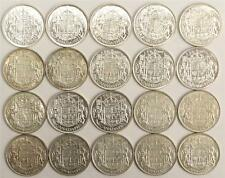 20x 1952 Canada Half Dollars 50 Cents 20-Coins all EF or better all nice coins