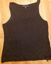 RALPH LAUREN black label L shimmer tank sweater cocktail metallic fiber EUC
