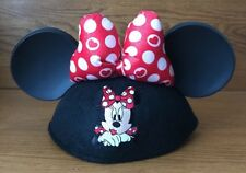 Disney Mickey Mouse Ears Cap Hat Kisses Minnie Mouse Bow Inscribed Hillary Adult