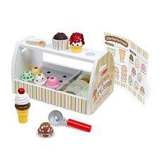 Melissa Doug Ice Cream Counter Toy Wooden Scoop Serve Kids Pretend Play 28 Pcs