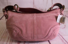 COACH NWT PRETTY PINK SUEDE SMALL HOBO PURSE ZIP BAG Number 3330 B4/B5 BUCKLE