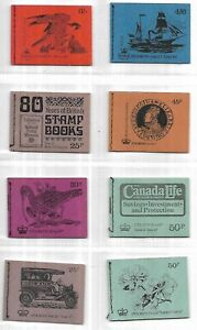 GB -QEII - Nice Selection of 8 different stitched complete booklets -MNH