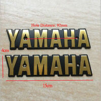 Set Fuel Gas Tank Badge Metal Emblem for Yamaha Motorcycle XS650 XS 650 Models