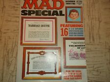"Vintage HUMOR Magazine MAD SUPER SPECIAL #22 Featuring 16 8""x10"" DIPLOMAS CERTS"