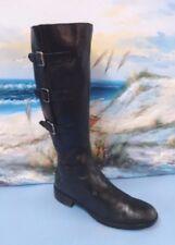 Ecco Womens Black Medium Leather Boots Size 41