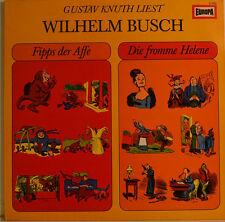 """GUSTAV KNUTH LIEST - WILHELM BUSCH - FIPPS DER AFFE 12"""" LP (W 78)"""