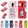 3D Cute Girl Cartoon Pink Unicorn Soft Silicone Cover Case Fits Samsung S9/S8/S7
