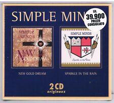 SIMPLE MINDS NEW GOLD DREAM SPARKLE IN THE RAIN BOX 2 CD F.C. SIGILLATO!!!