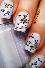 Pummeleinhorn NailArt Sticker Aufkleber  Nageldesign Tattoo 564