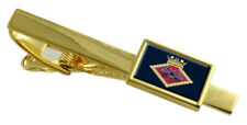 Royal Navy Falmouth Gold Tie Clip Engraved