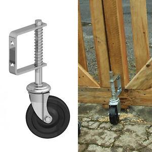 Gate Wheel Spring Loaded Garden Galvanised Heavy Duty Sliding Caster For Gate