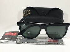 4da062861f Ray-Ban New Wayfarer Classic Sunglasses RB4184 Black Gloss Gray Green Lens  Men s