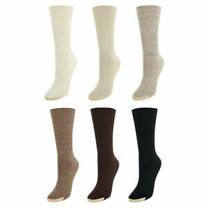 New Gold Toe Women's Extended Size Turn Cuff Anklet (6 Pair Pack)