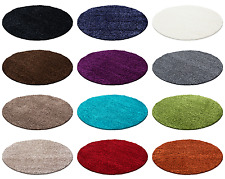 Tapis ronds hirsutes Shaggy pour les couleurs du salon et de la taille R-7500