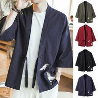 Men's Loose Oversized Kimono Cardigan Noragi Street Jacket Haori Man Yukata Coat