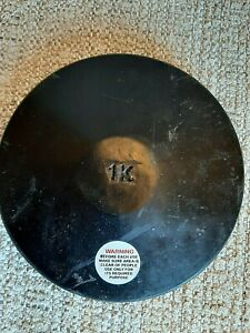 1K Black Rubber Discus